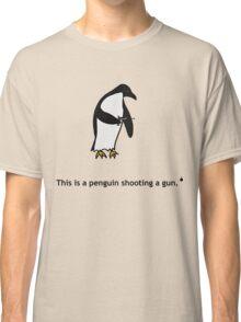 Penguin with a Gun Classic T-Shirt