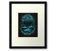 Deep diving Framed Print