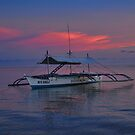 Bunka boat Sunset by Michael Powell
