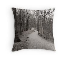The path through the woods Throw Pillow