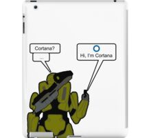 """Chief, I need you""  iPad Case/Skin"