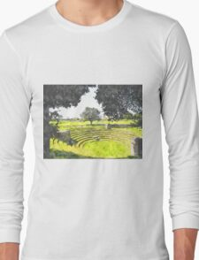 Paestum: archaeological site theater Long Sleeve T-Shirt