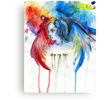Give Me Love - Watercolor Canvas Print