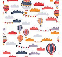 Summer Balloon Ride Photographic Print