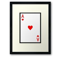 Ace of Hearts Framed Print