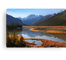 Sunwapta River, The Icefields Parkway, Alberta, Canada. Canvas Print