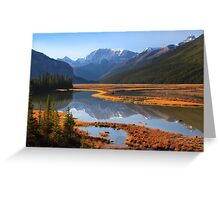 Sunwapta River, The Icefields Parkway, Alberta, Canada. Greeting Card