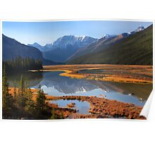 Sunwapta River, The Icefields Parkway, Alberta, Canada. Poster
