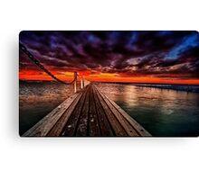 Sundown at Pier 23 Canvas Print