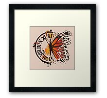 A Ruptured Time Framed Print