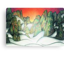 Foggy Cliffs Canvas Print