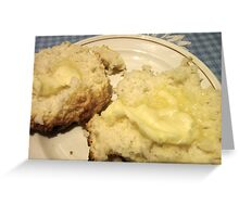 Baking Powder Biscuits and Butter Greeting Card