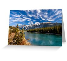 Athabasca River at Jasper, Alberta, Canada . Greeting Card