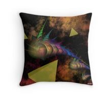 Ancient Travelers to a Small Blue Planet Throw Pillow