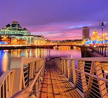 The River Liffey at Sunset #2 by Charles Howarth