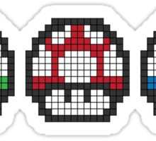 8Bit - Mario Mushrooms Sticker