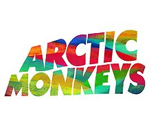 Colorful Arctic Monkeys logo by MayaTauber