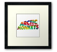 Colorful Arctic Monkeys logo Framed Print