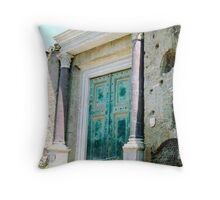 Entrance to the Temple of Romulus, Rome, Italy Throw Pillow
