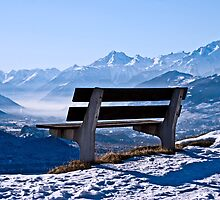 Bench dreams in the Alps by GOSIA GRZYBEK