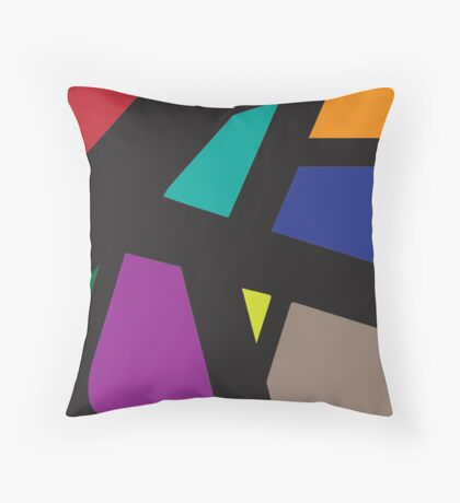 Letters and colors Throw Pillow