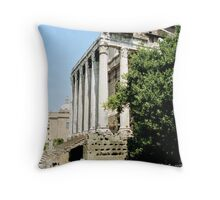 Sideview Temple of Antoninus and Faustina, Rome, Italy Throw Pillow