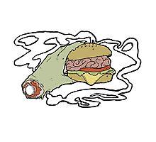 Brain Burger Photographic Print