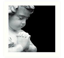 Let Angels Guard Your Peace Art Print