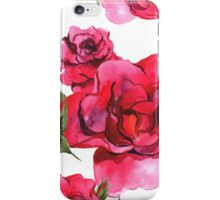 Watercolor Red Roses iPhone Case/Skin