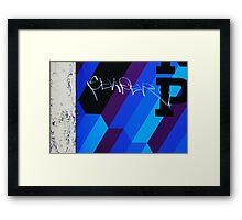 Blue Graffiti Framed Print