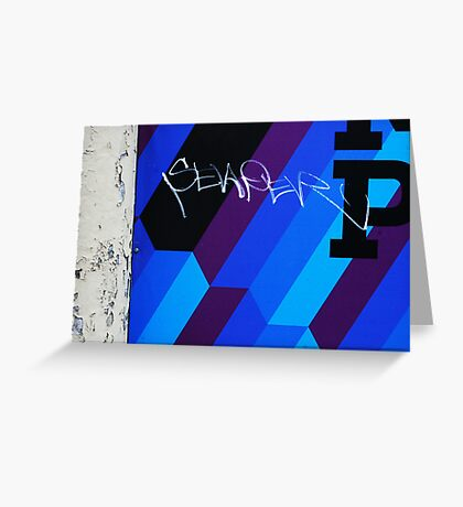 Blue Graffiti Greeting Card