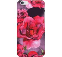 Watercolor Roses on Smoky Purple iPhone Case/Skin