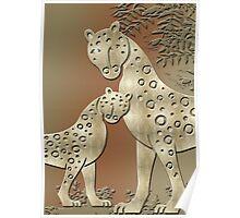 Cheetah Family Poster