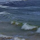 Incoming Waves on Bather's Beach by lezvee