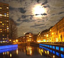 Spree River at Night by Steve Keefer