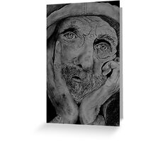 Portrait of an old man  Greeting Card