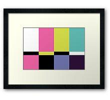 Color Blox 3 Framed Print