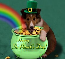 St Patrick's Day Sheltie Puppy by jkartlife