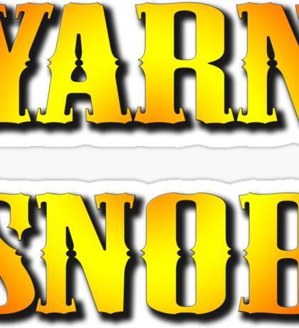YARN SNOB Sticker