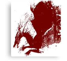 Dragon Age Grunge Canvas Print