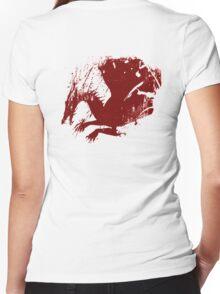 Dragon Grunge Women's Fitted V-Neck T-Shirt