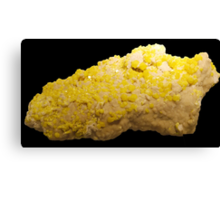 Sulfur Mineral  Canvas Print