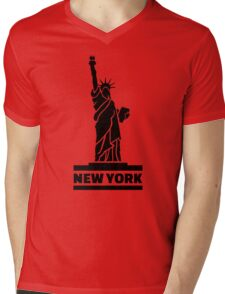 New York Statue of Liberty Mens V-Neck T-Shirt