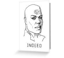 Teal'c Stargate white background Greeting Card