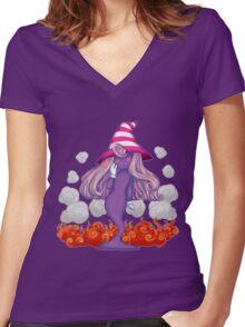 Paper Mario's Vivian Women's Fitted V-Neck T-Shirt