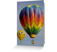 Two hot air balloons  Greeting Card