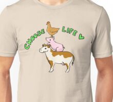 Choose Life - Go Vegan! Unisex T-Shirt