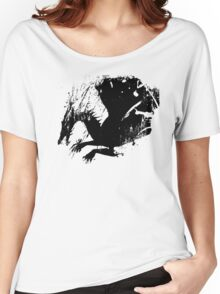 Dragon Black Grunge  Women's Relaxed Fit T-Shirt