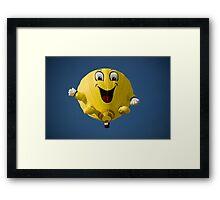 Yellow Hot air Balloon Framed Print