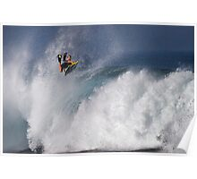 Jeff Hubbard at Banzai Pipeline Poster